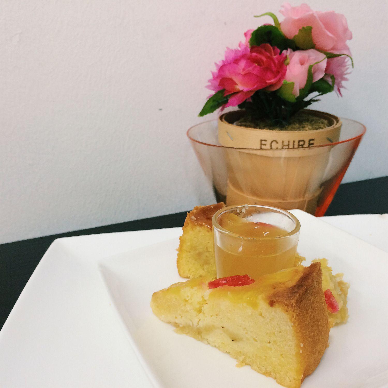 Pineapple Pound Cake with Fruit Enzyme - Gobi Desserts