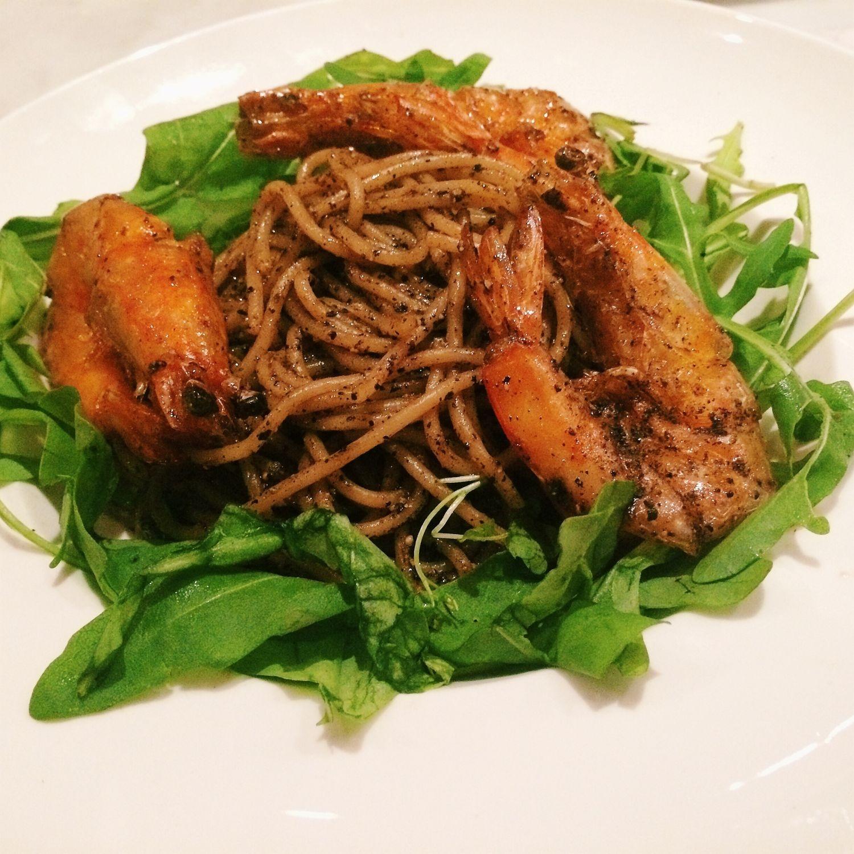 Black Pepper Prawn Pasta - Violet Oon's Kitchen
