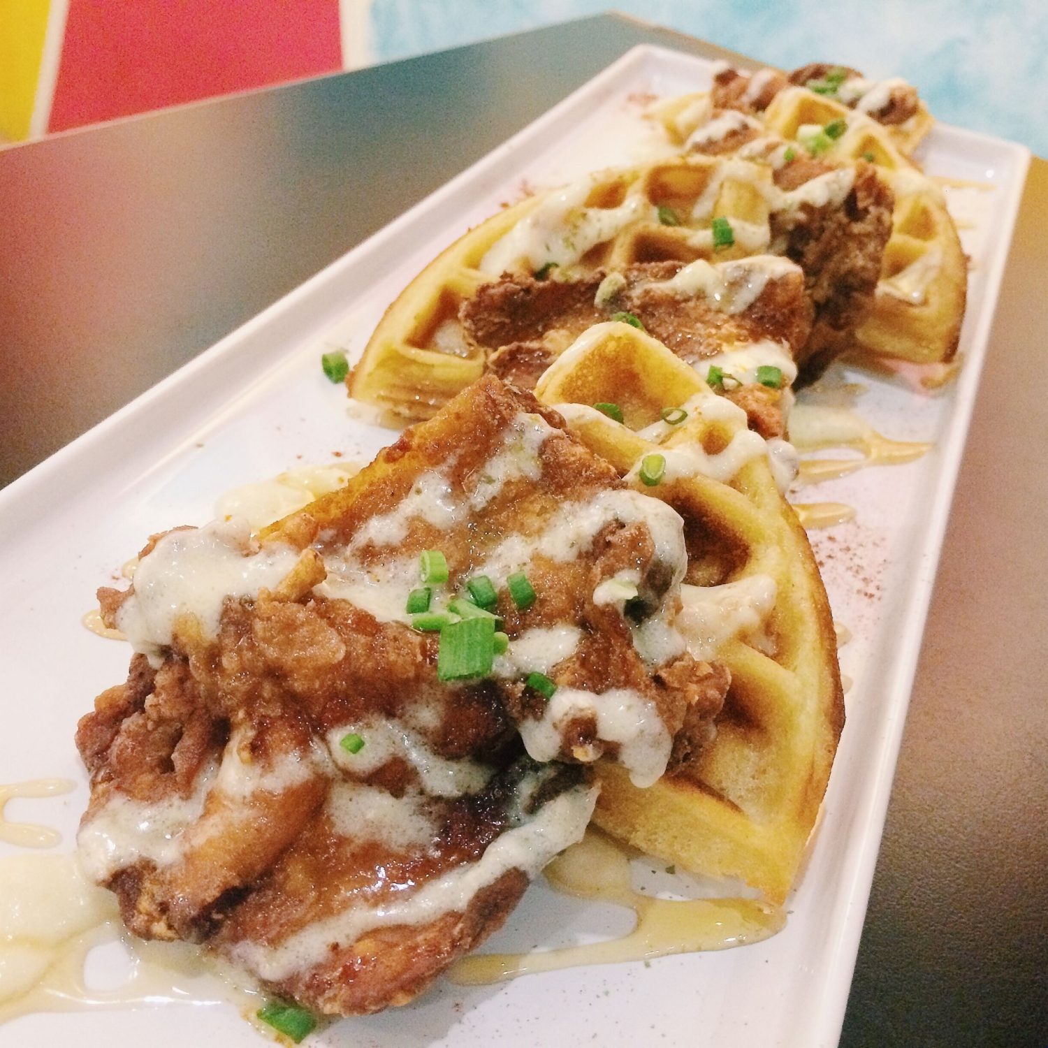 Fried Karaage Chicken & Waffles - Little Hiro