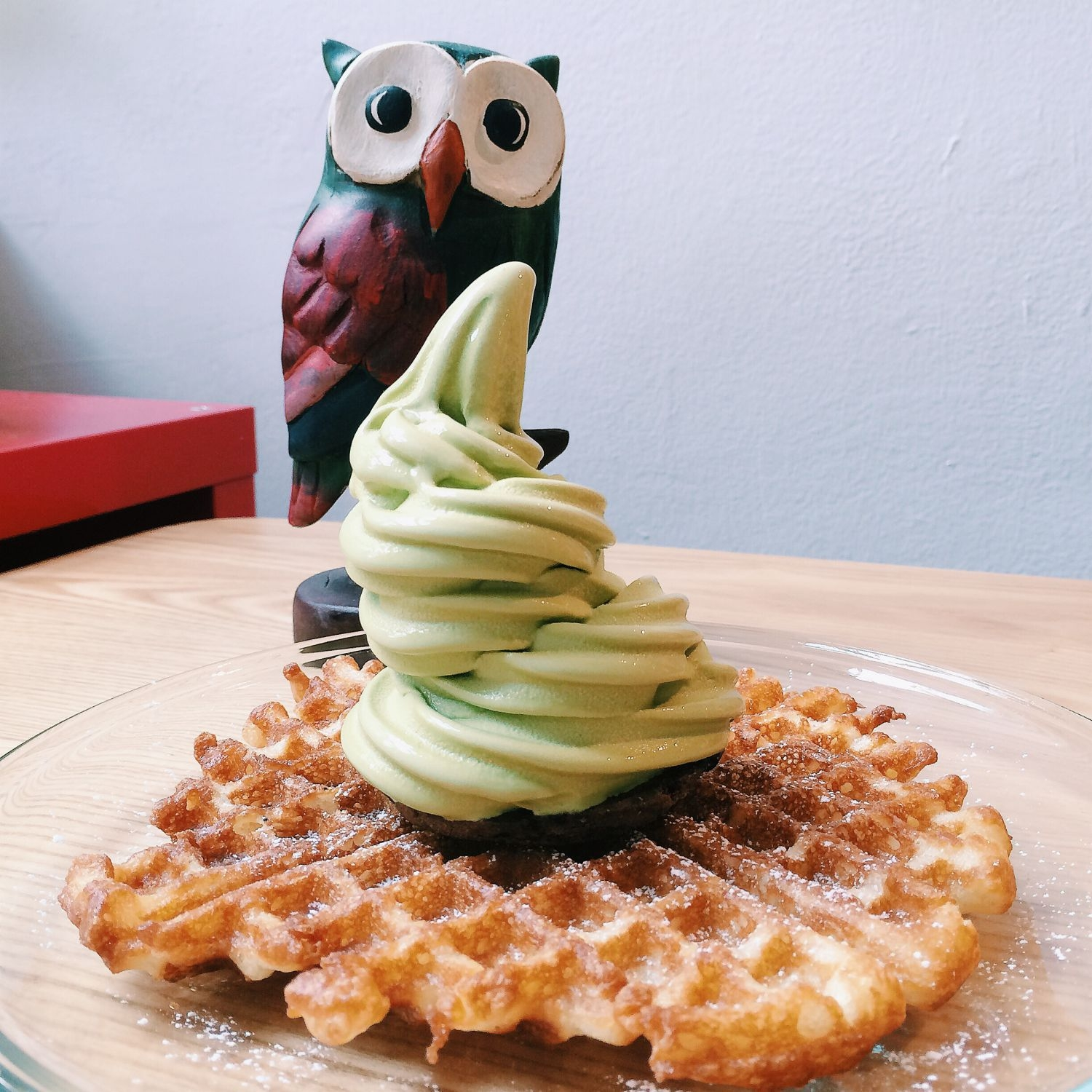 Thin Waffle with Matcha Soft Serve - The Cold Pantry