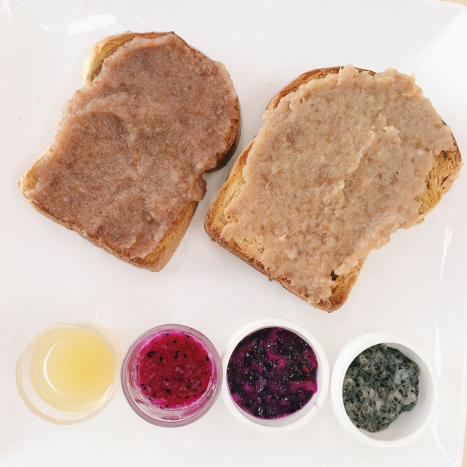 Toast with Fruit Enzyme Jam/Shots - Gobi Desserts