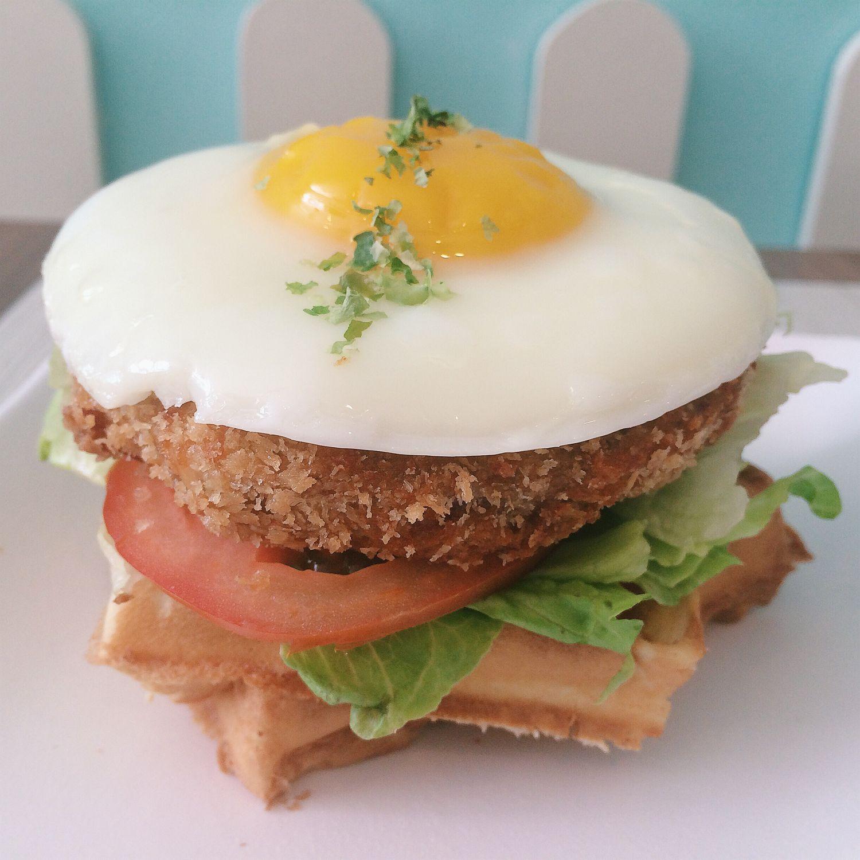 Chicken Waffle Tower - Brew Maison