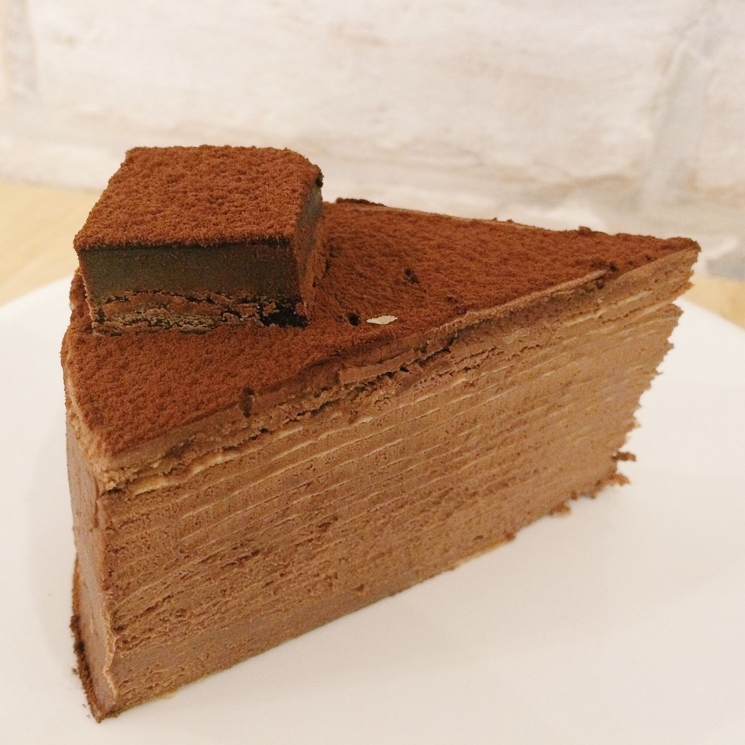 Brandied Chocolate Mille Crepe Cake - The Udder Pancake