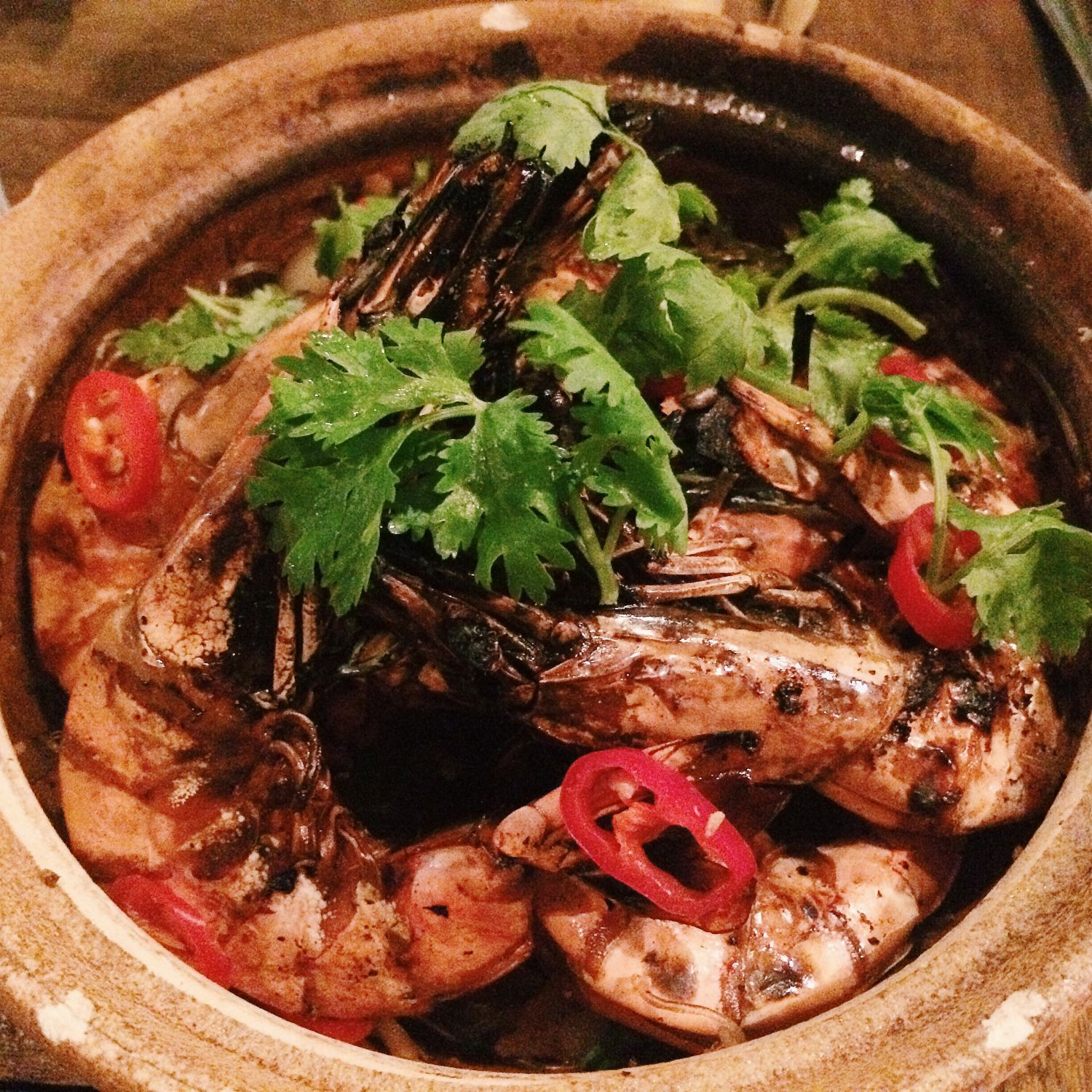 King Prawns on Vermicelli Claypot - The Prawn Star