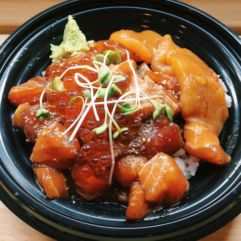 Scallop & Mixed Fish Don - Teppei Syokudo