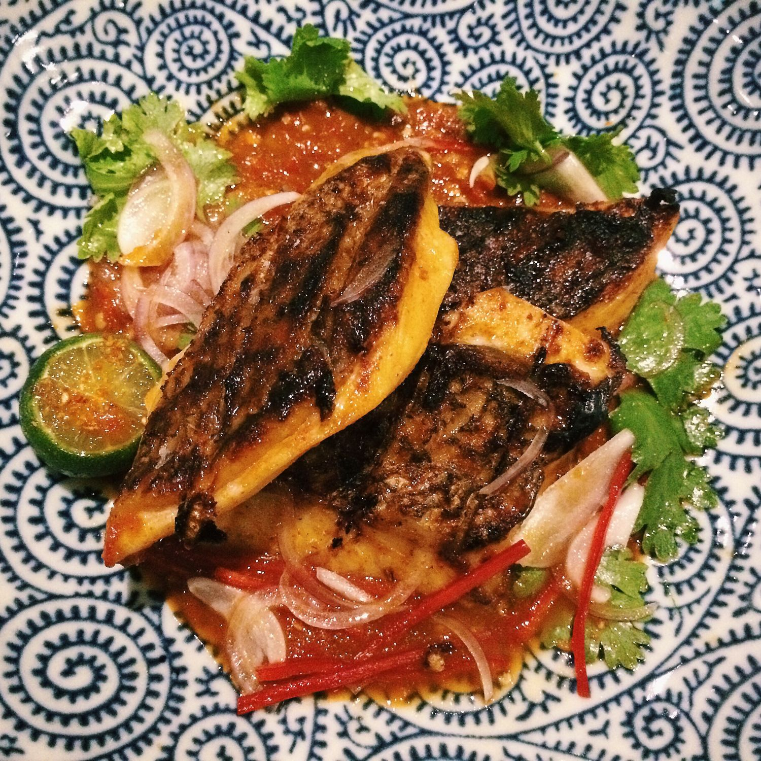 Coconut Charcoal Grilled Wild Caught Red Snapper - Candlenut