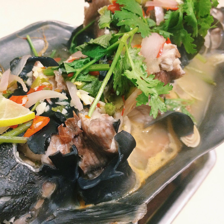 Thai Walking Catfish with Spicy Lemon Soup
