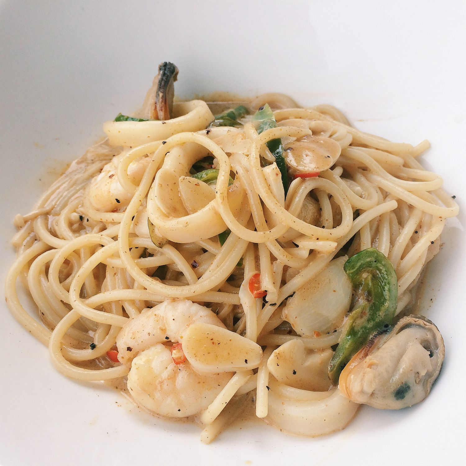 Tom Yum Seafood Pasta - Collective Brewers