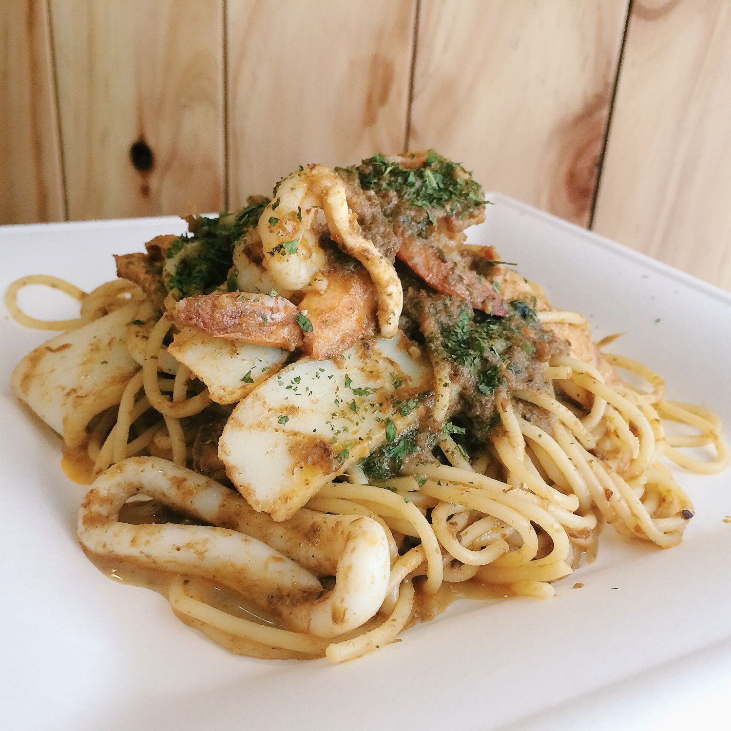 Seafood Laksa Pasta - The Diner by The Travelling C.O.W.