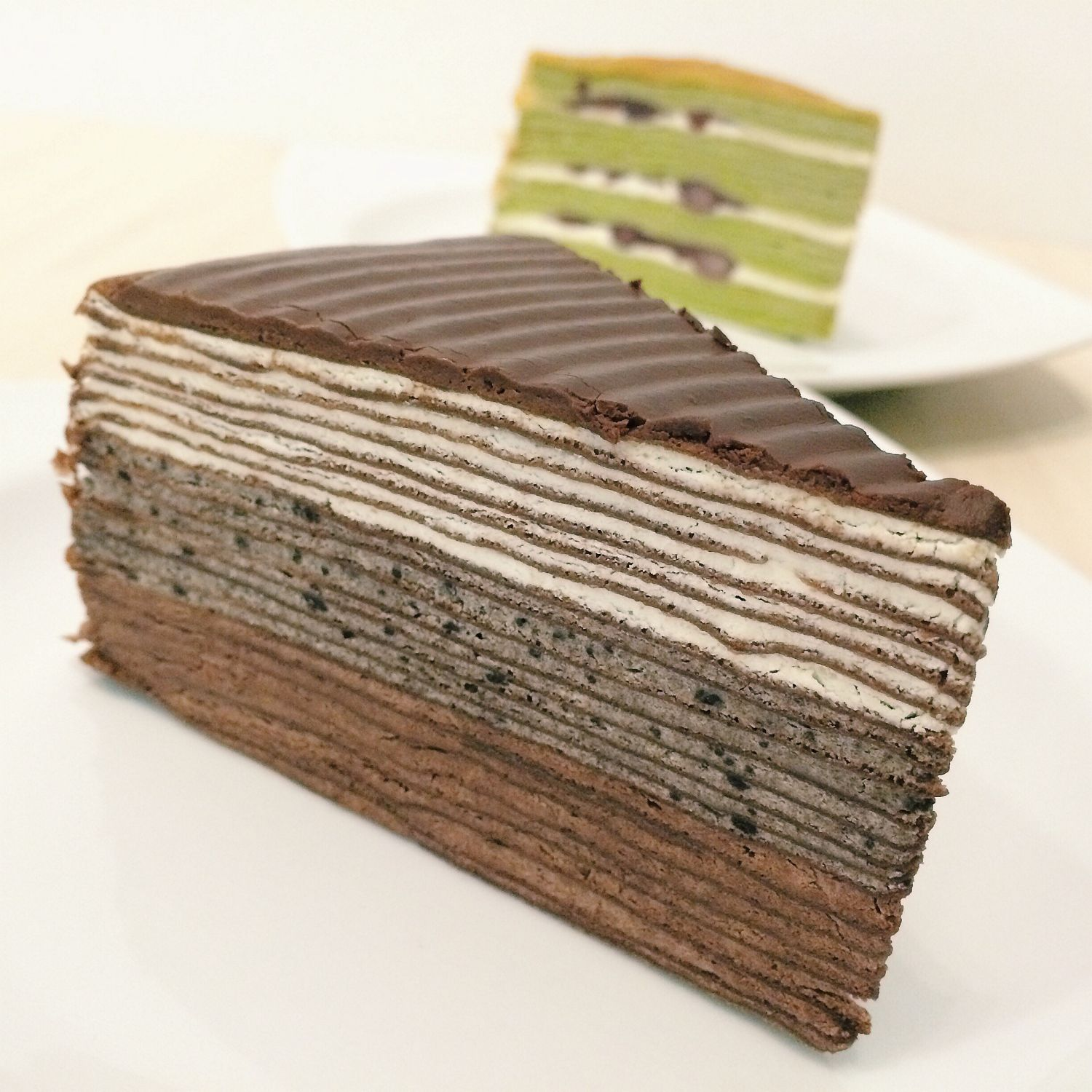 The Black Mille Crepe Cake - Champs Patisserie