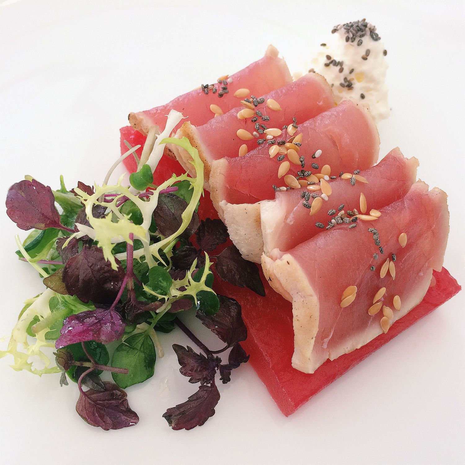 Rare Yellow Fin Tuna Tataki - Pool Grill