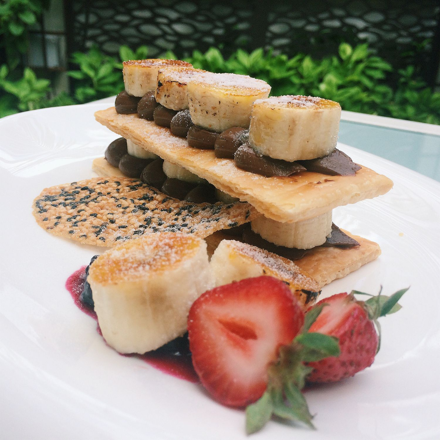 Burnt Banana Mille-feuille - Canopy Garden Bar & Burnt Banana Mille-feuille - Canopy Garden Bar | Secret Life of ...