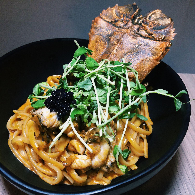 Laksa Linguine Pasta - The Fickle Mussel