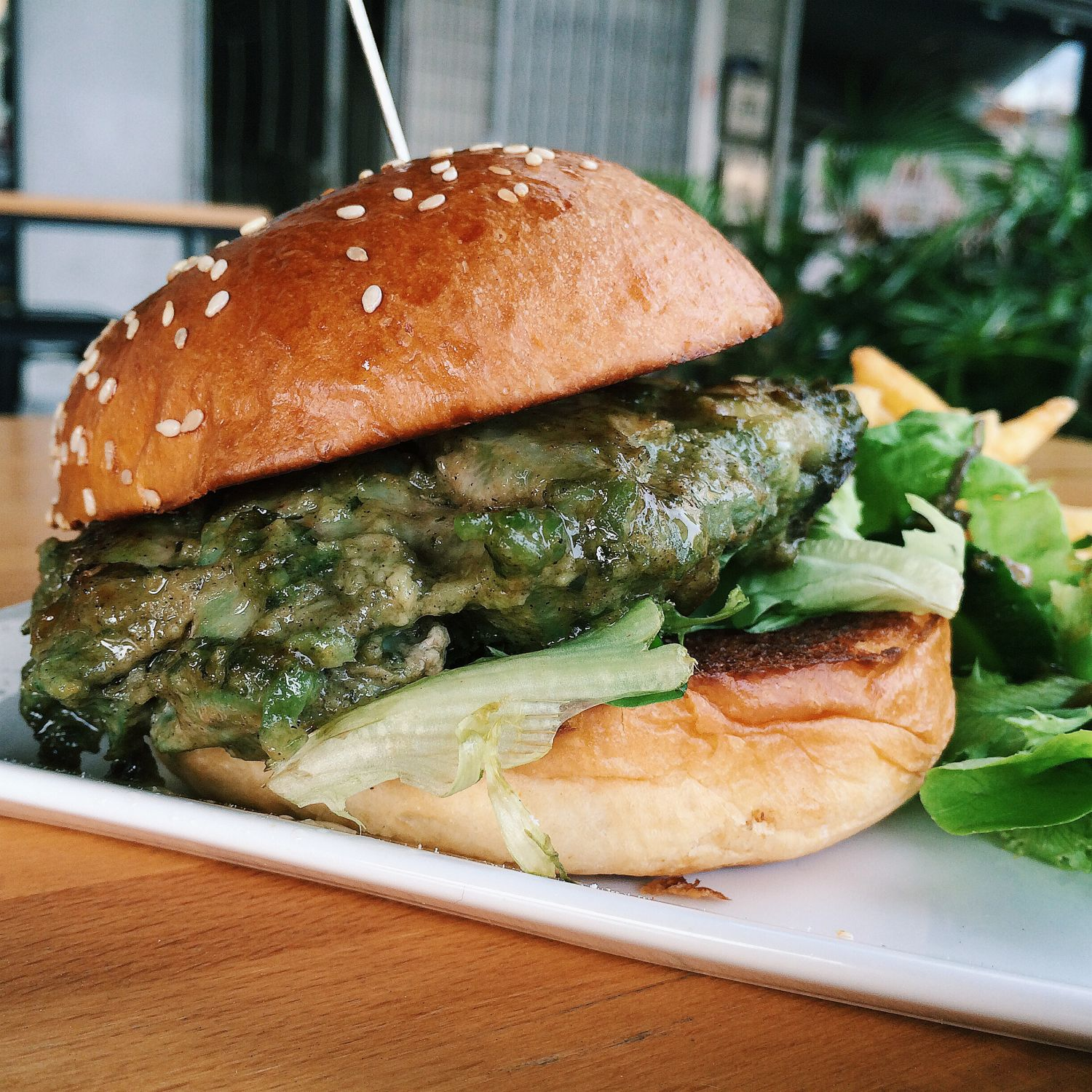 Pandan Chicken Burger - Collective Brewers