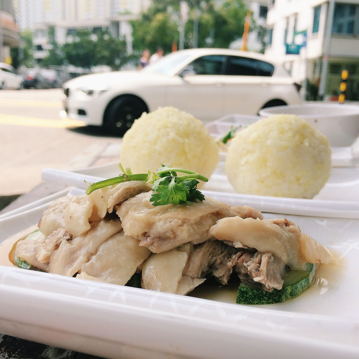 Hainanese Chicken Rice Balls - The Tiong Bahru Club Singapura