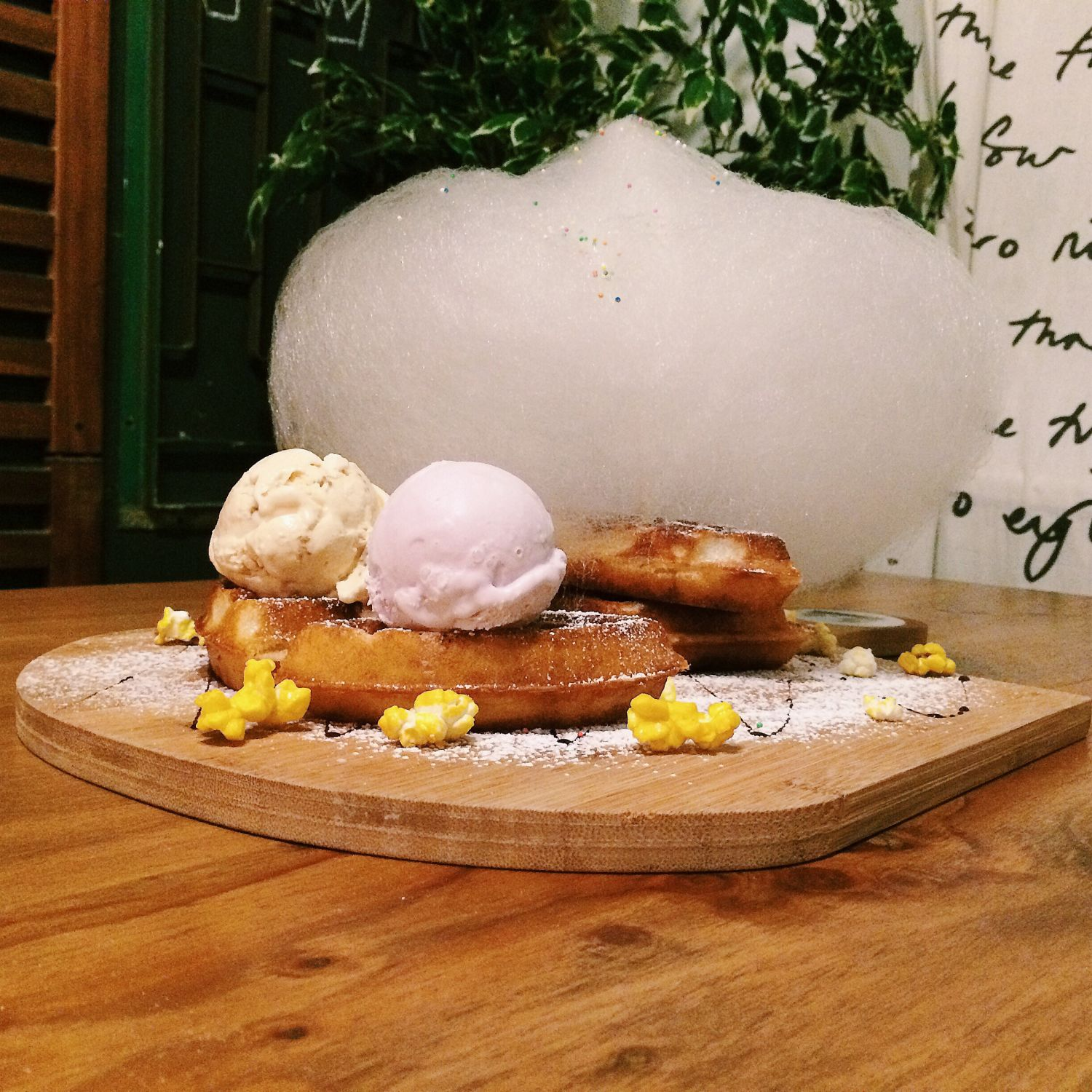 Cotton-Pop Waffle with Ice Cream - Bunny and Pony