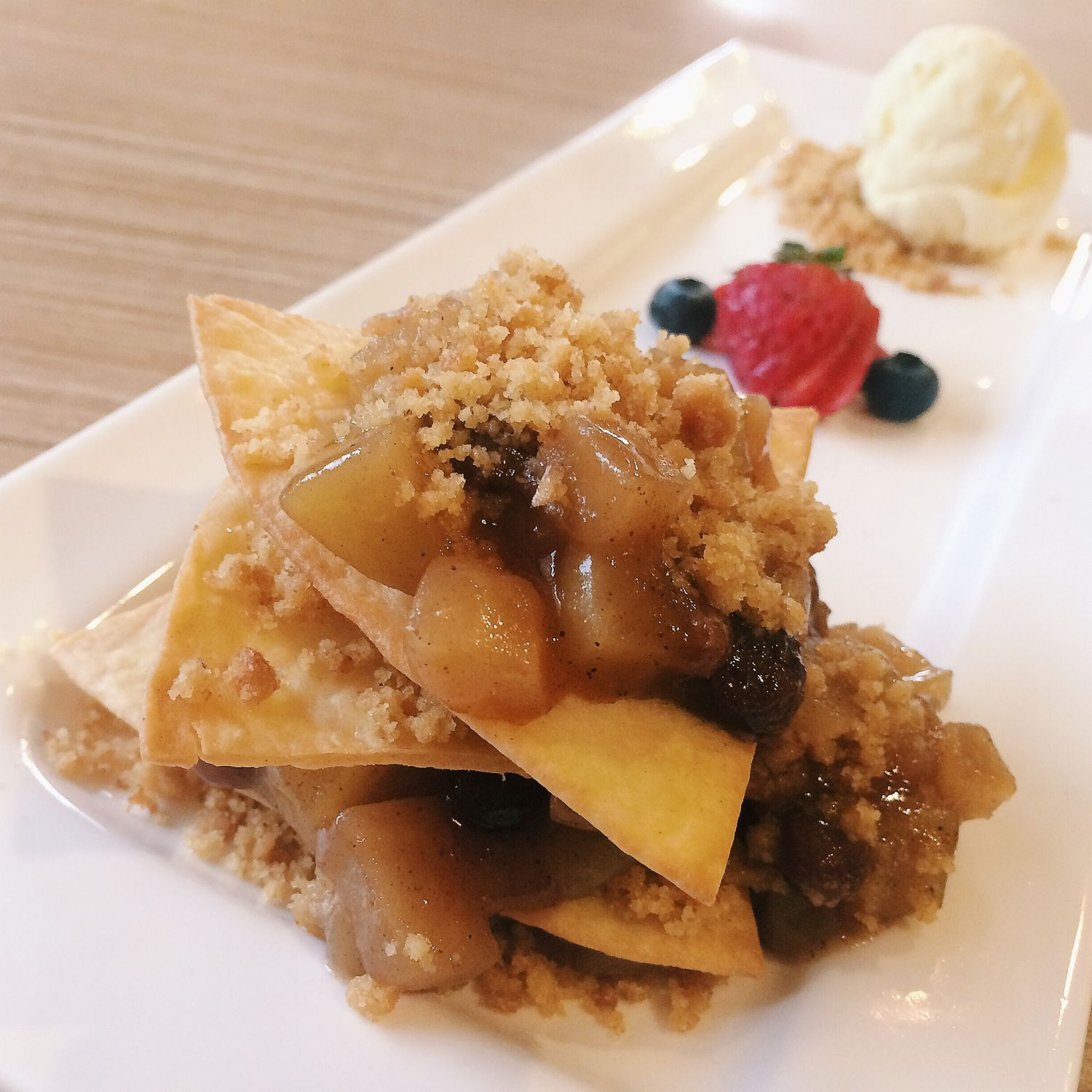 Apple Tortilla Tower - KINS Restaurant