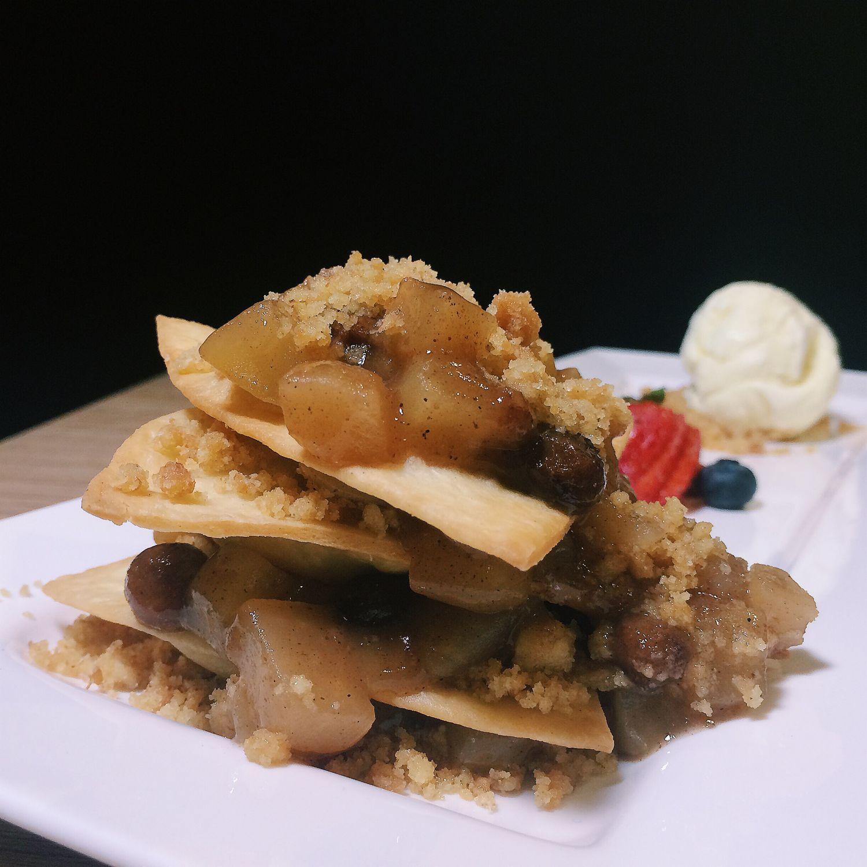 Apple Tortilla Tower - KINS Restaurant