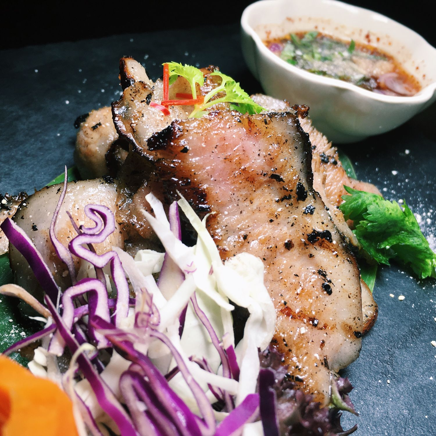 Grilled Iberico Pork Collar - Rochor Thai