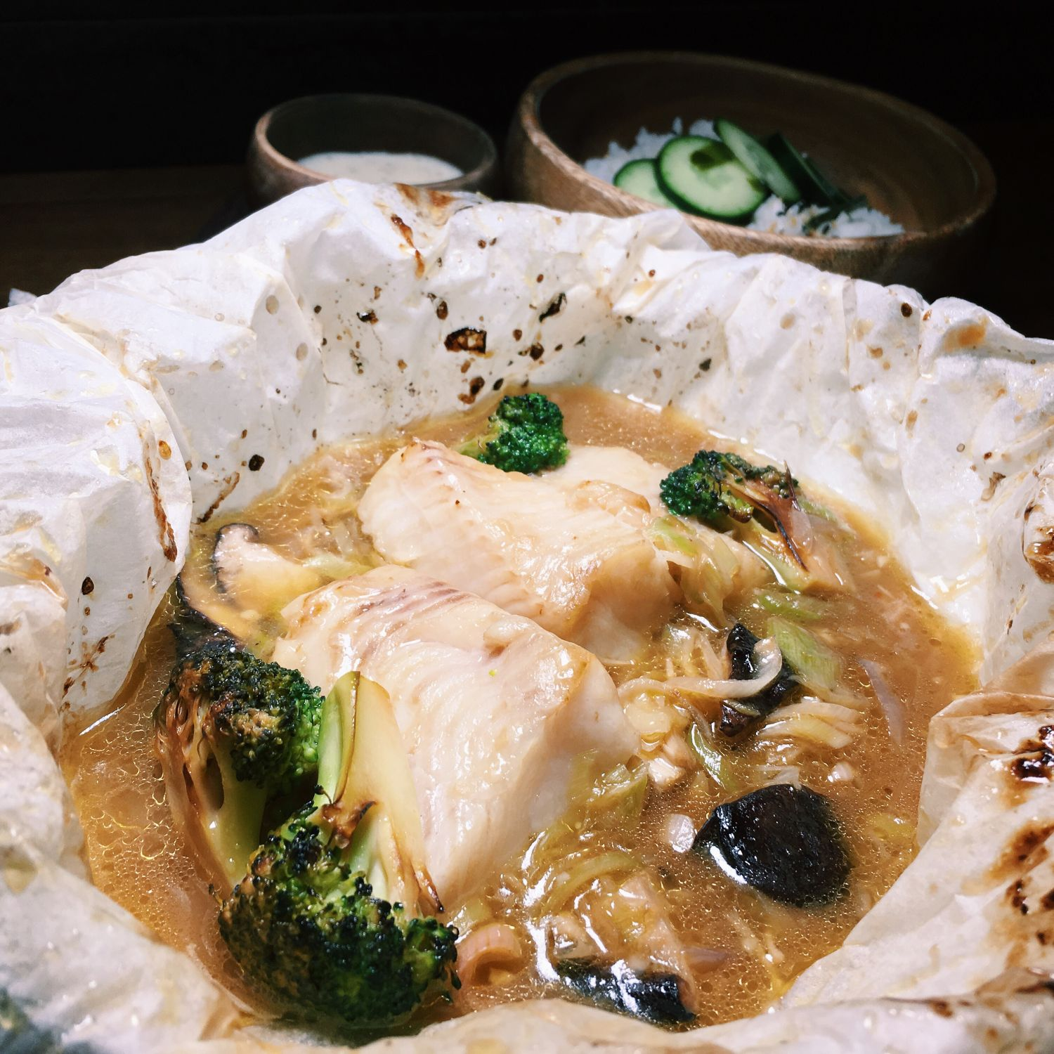 Halibut en Papillote - The Halia (Raffles Hotel)