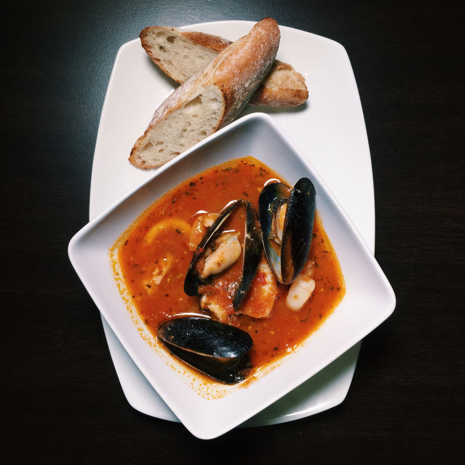 Seafood Cioppino - Two Tall Trees