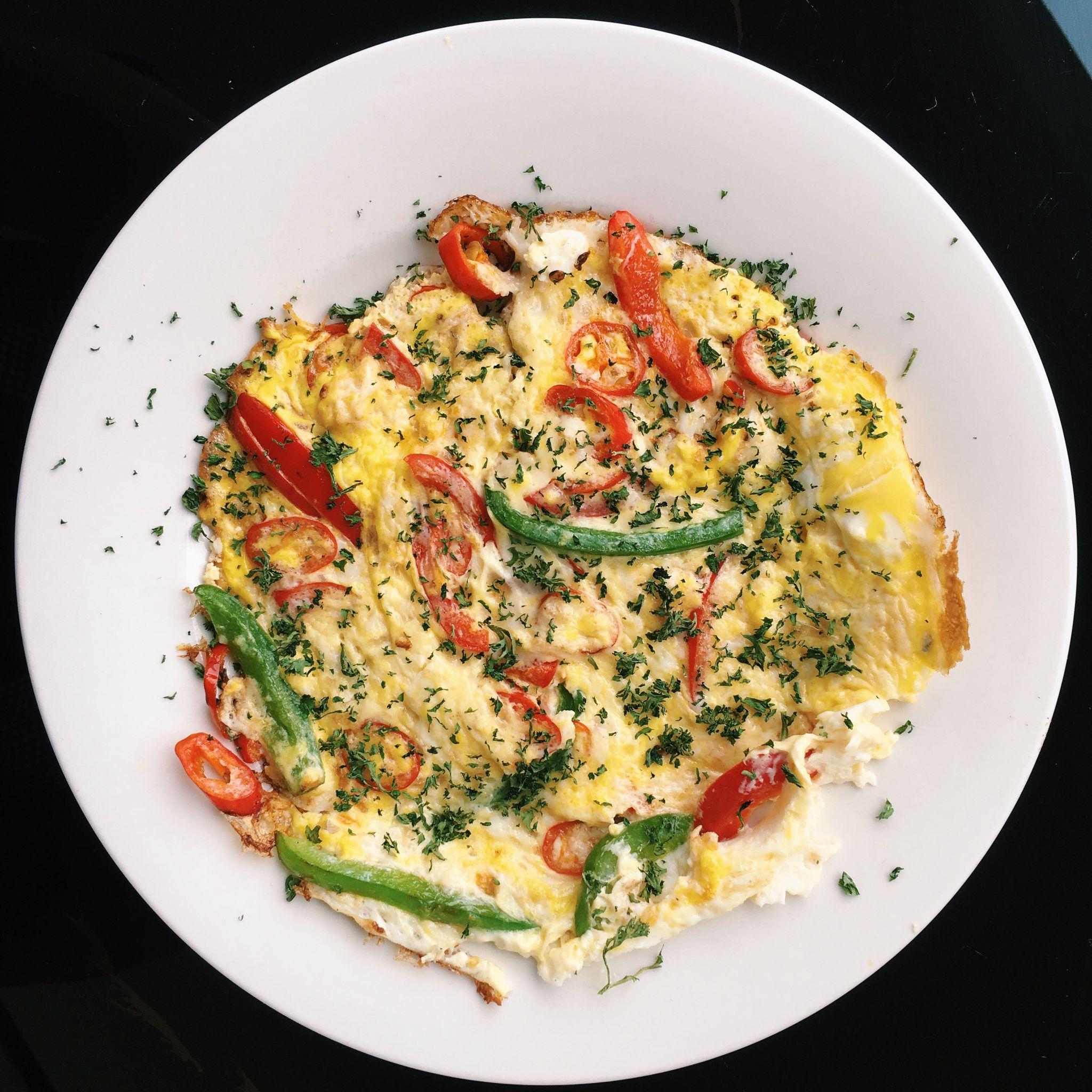 Roast Pepper and Chilli Frittatas - Birdcage Bistro