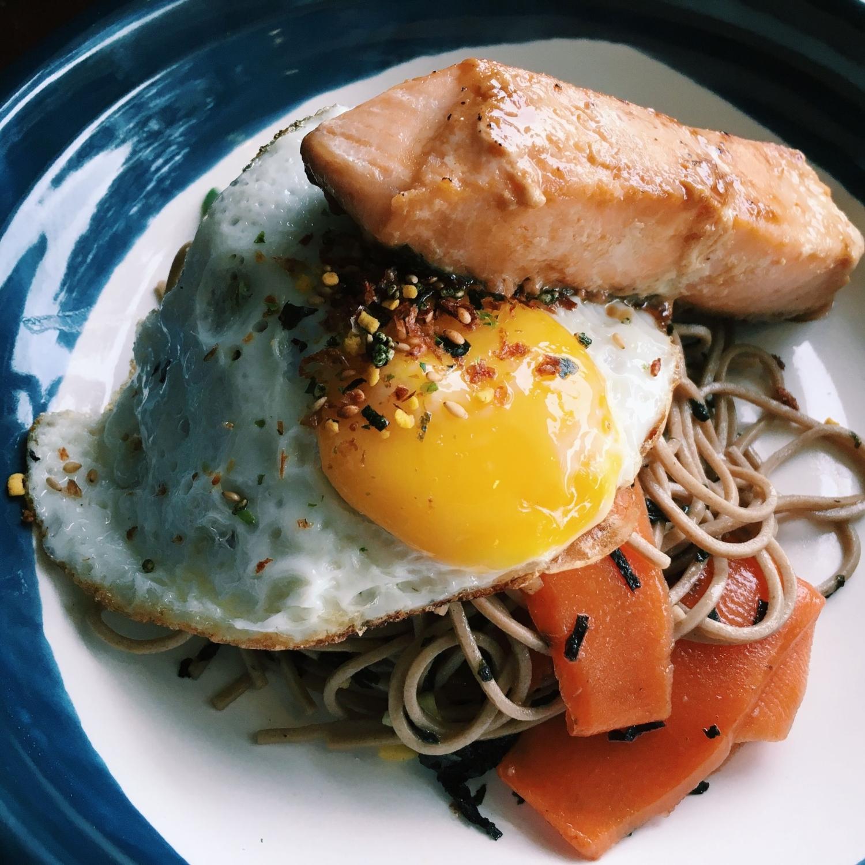 Salmon Soba Noodles - Atlas Coffeehouse
