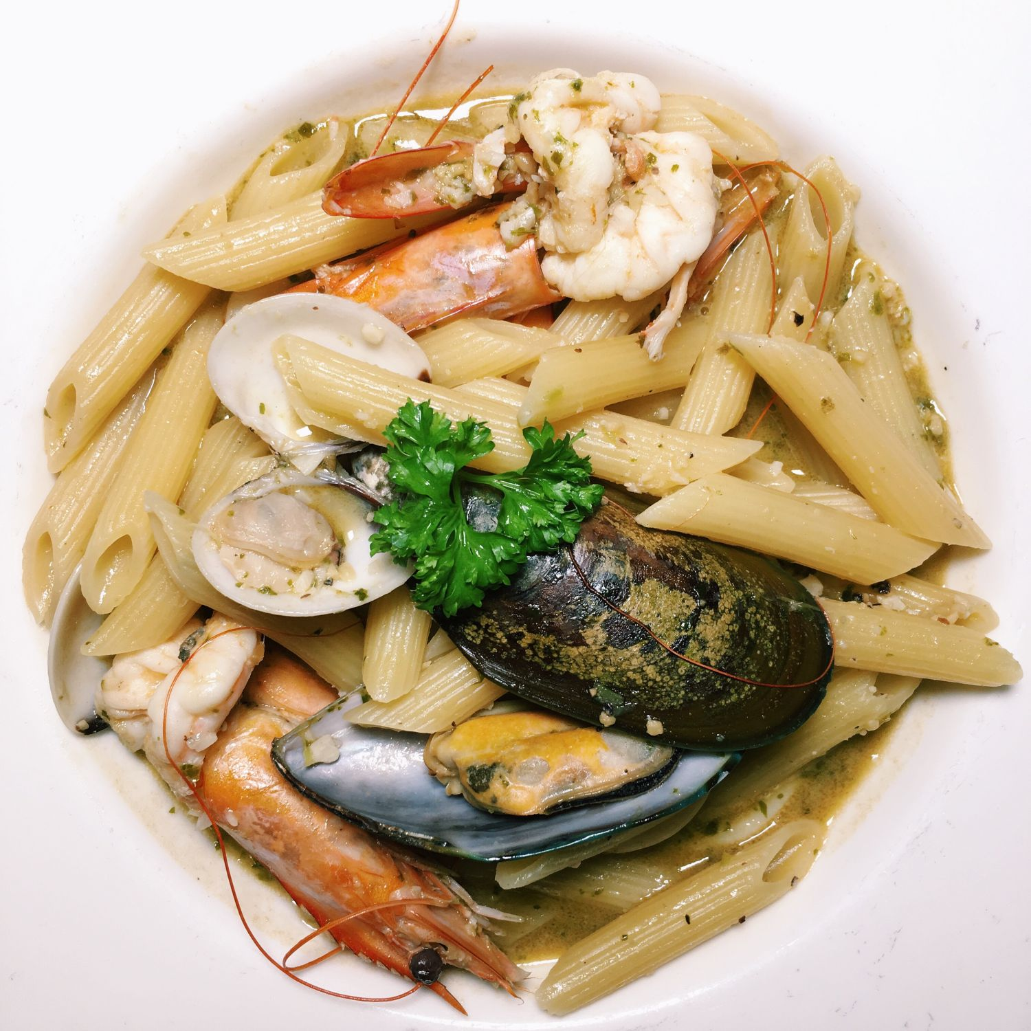 Penne Cioppino - The Wicked Garlic