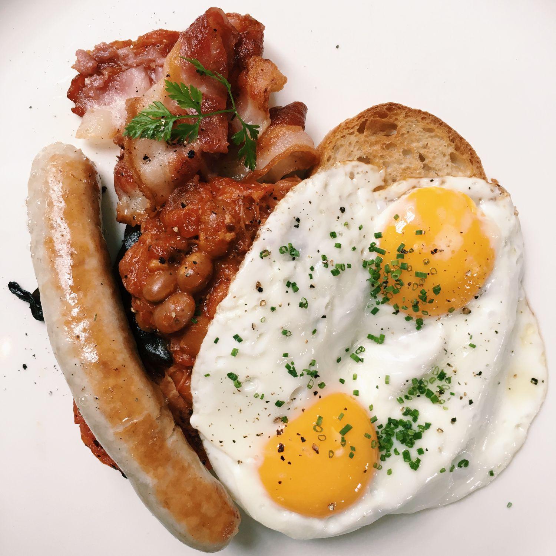 Full English Breakfast - Flutes Restaurant