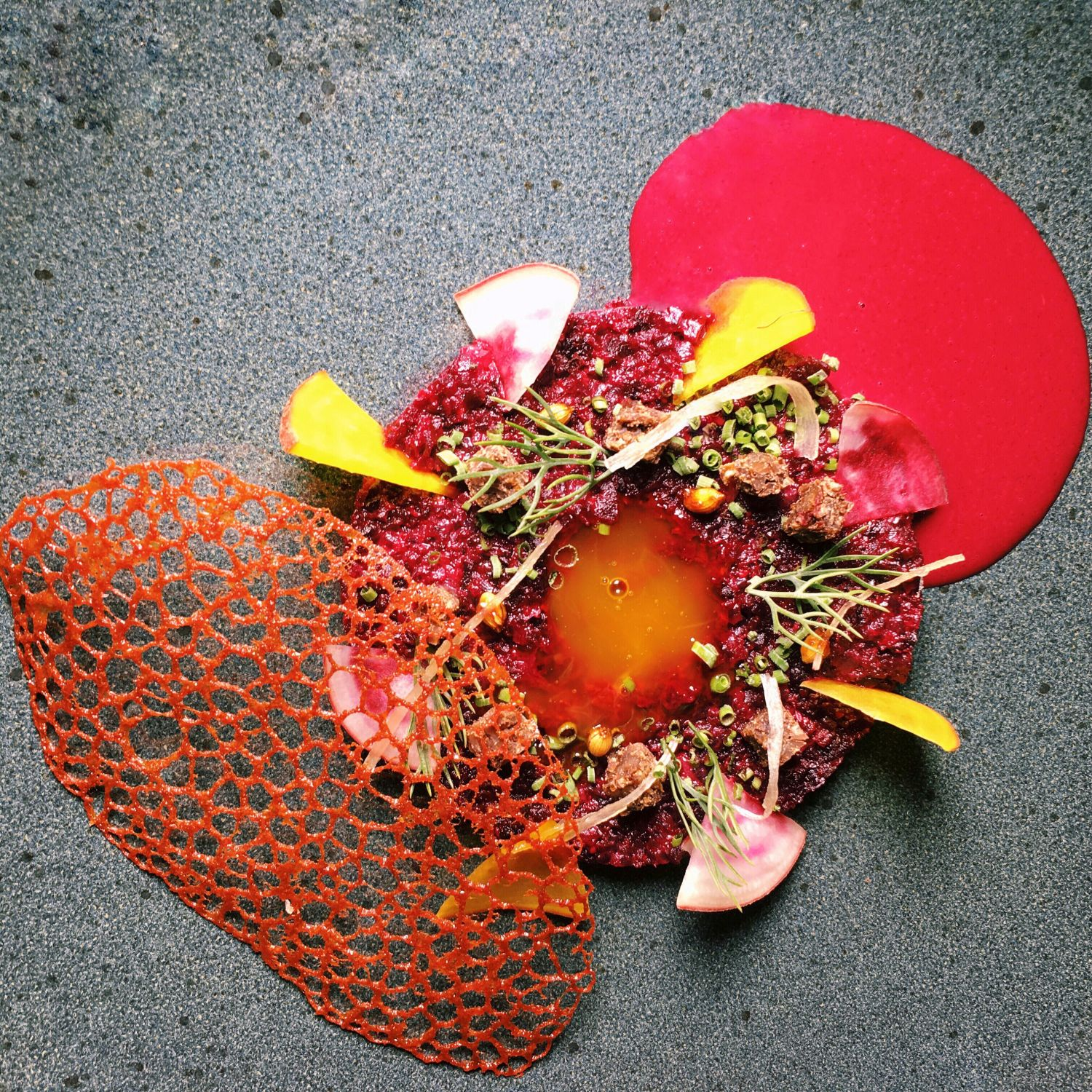Textures of Beetroot - Bacchanalia