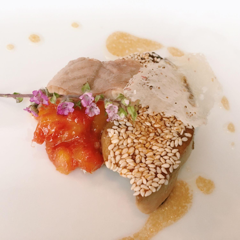 Foie gras with Eel - Les Amis Restaurant
