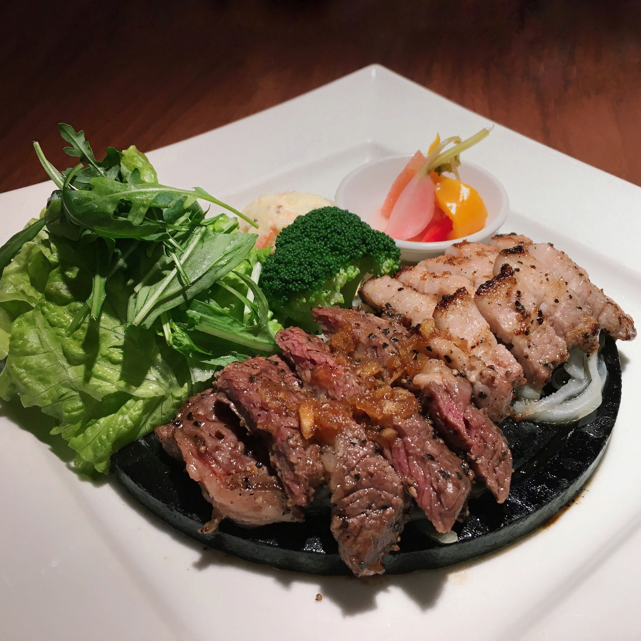 Beef Steak & Pork Belly Shio Kouji - Ootoya