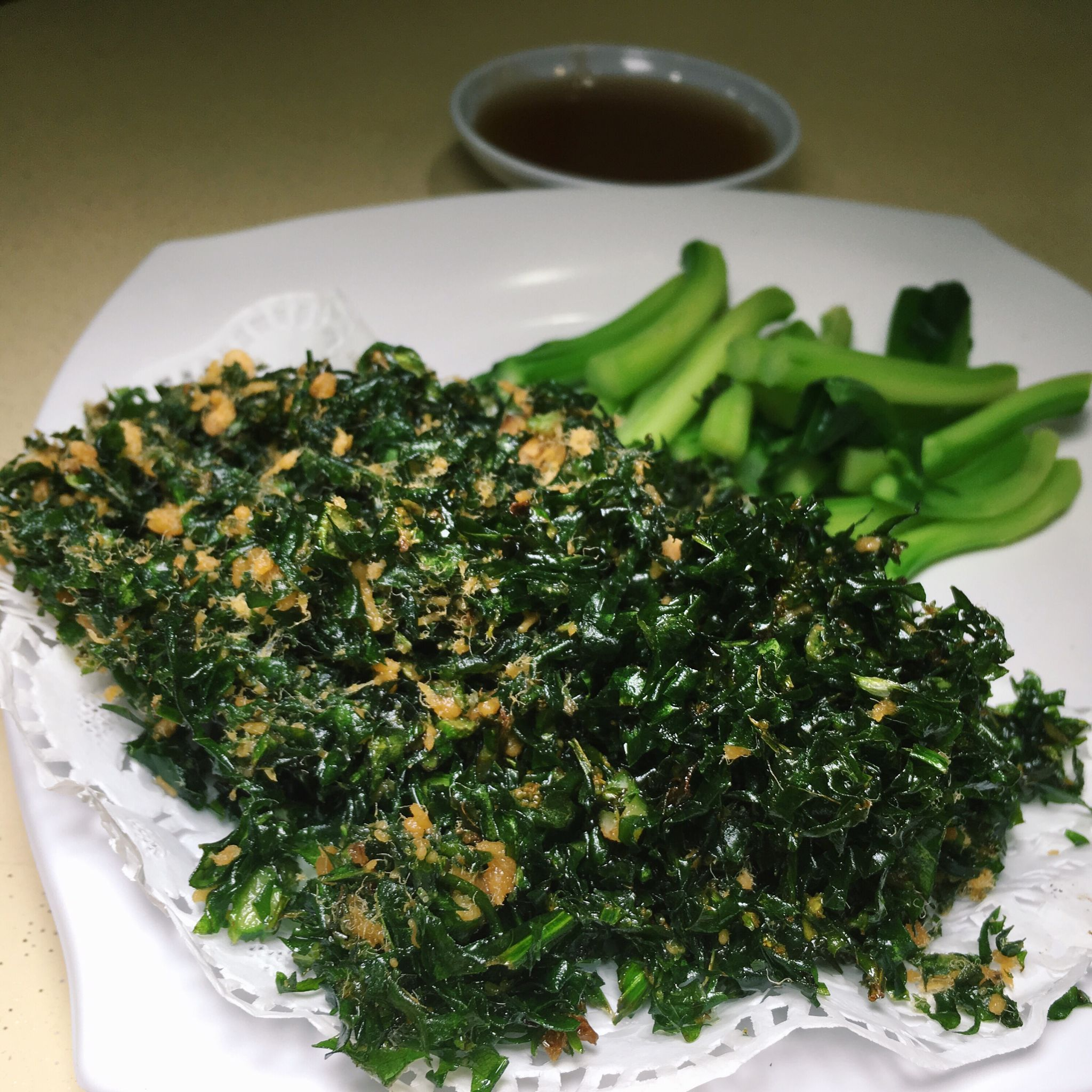 Deep Fried Kai Lan Leaves - Fu Li Seafood