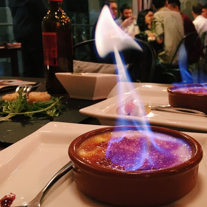 Grand Marnier Crema Catalana - Milagro Spanish Restaurant