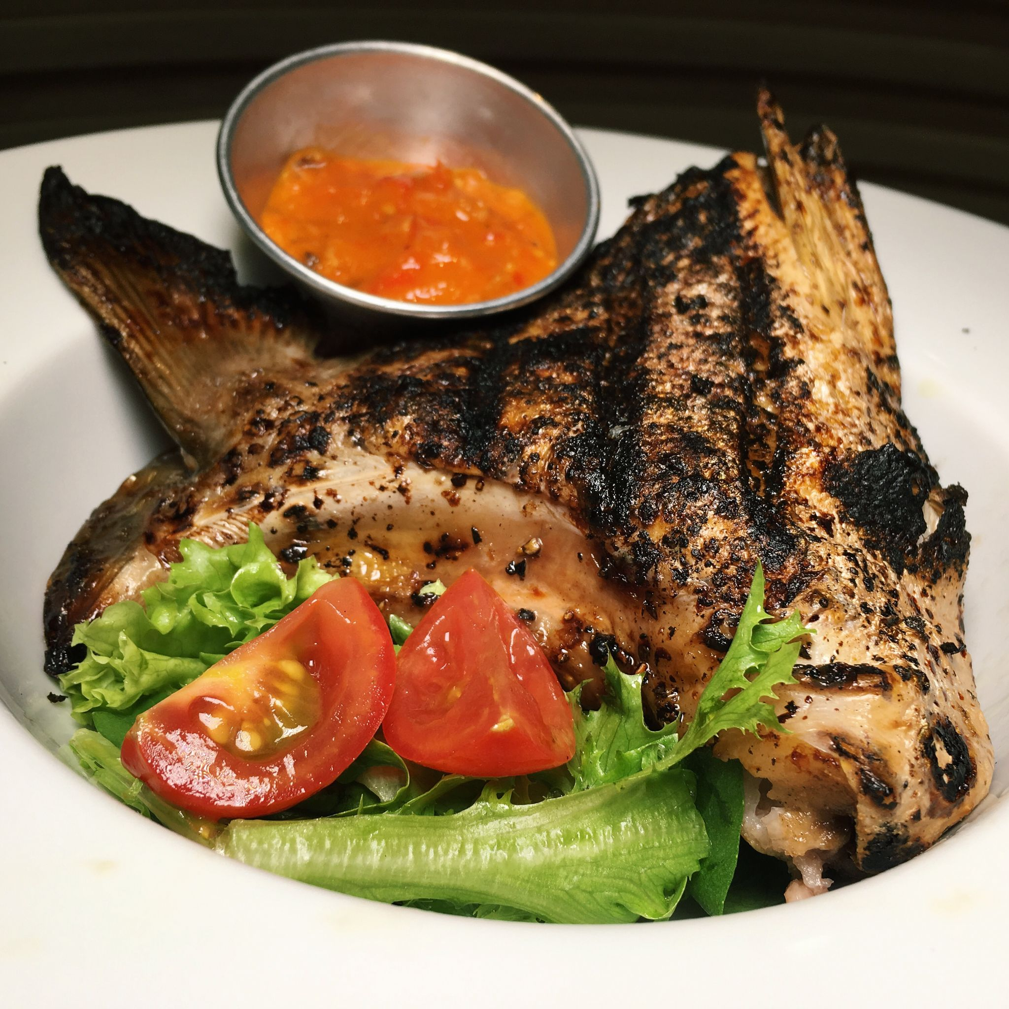 Grilled Kingfish Collar with Spicy Chinchalok Sauce - Redpan