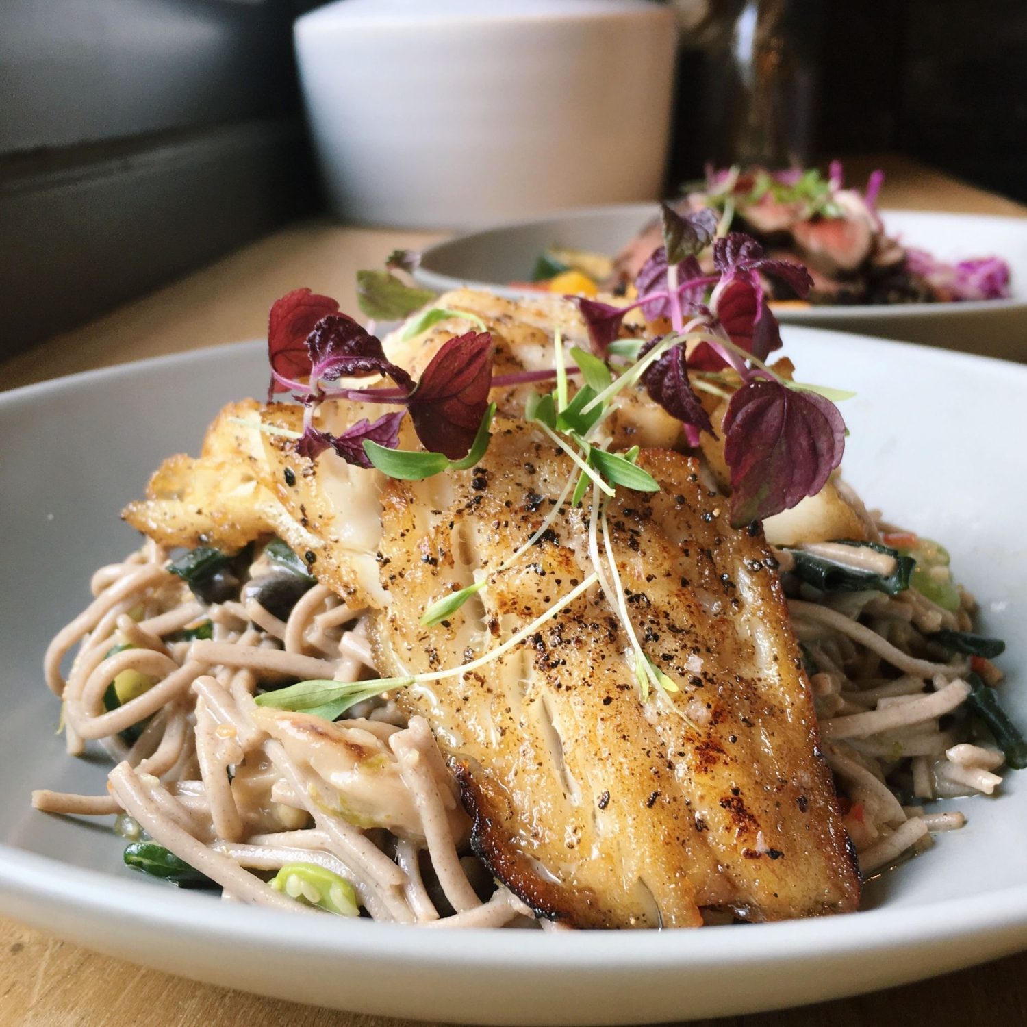 Roasted Cod and Soba Noodle Salad - Populus