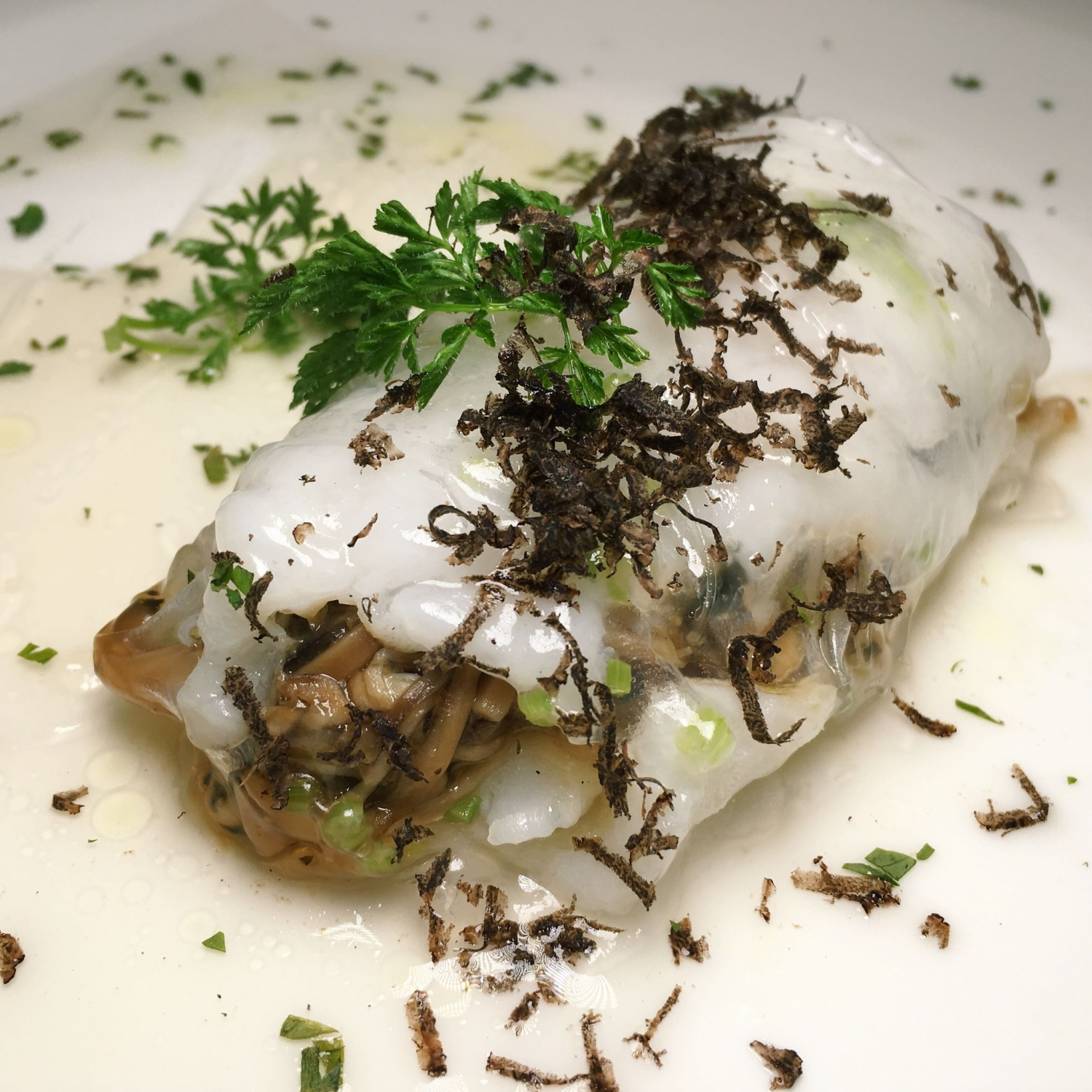 Steamed Cod in Paper Roll - Jiang-Nan Chun
