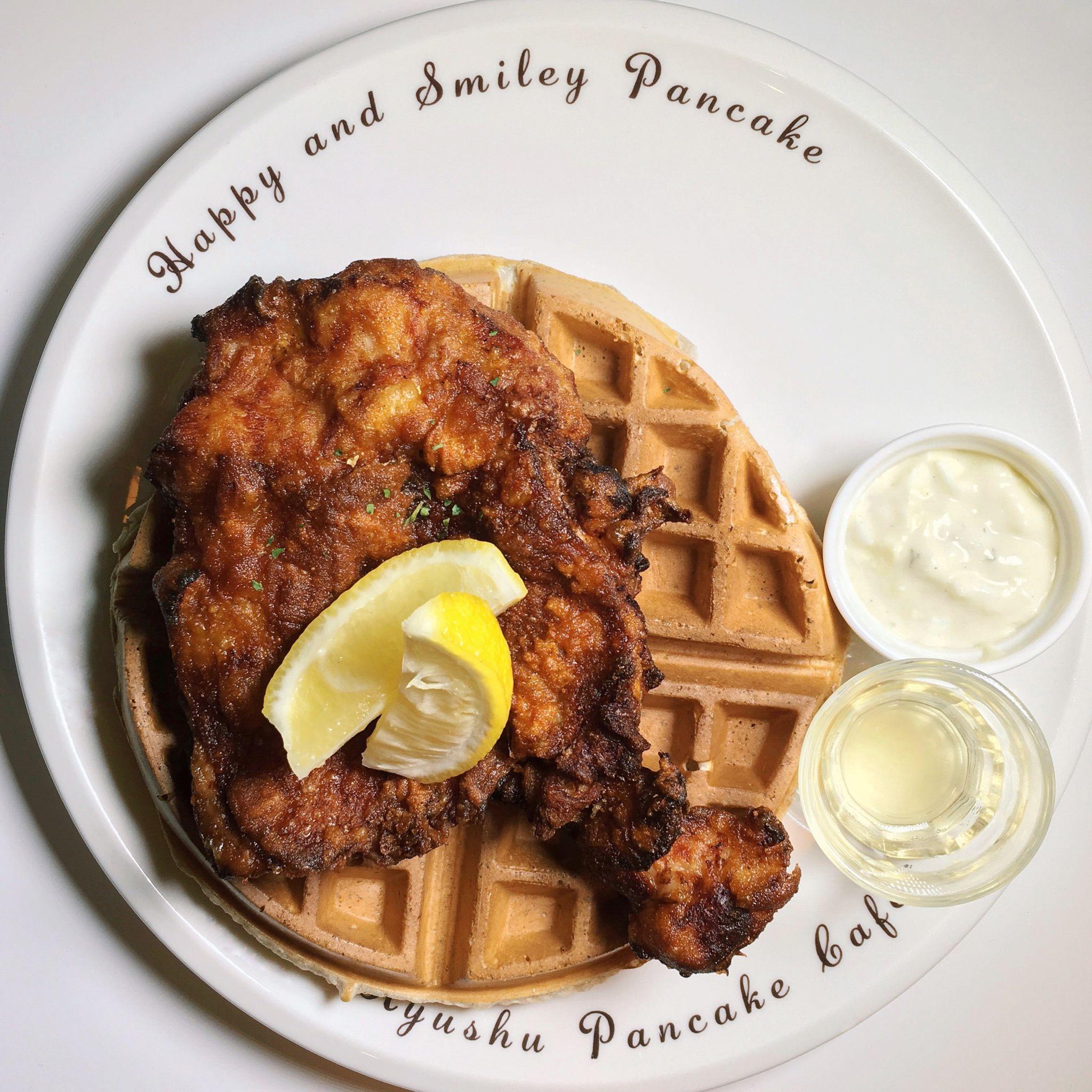 Karaage Chicken Waffle - Kyushu Pancake Singapore