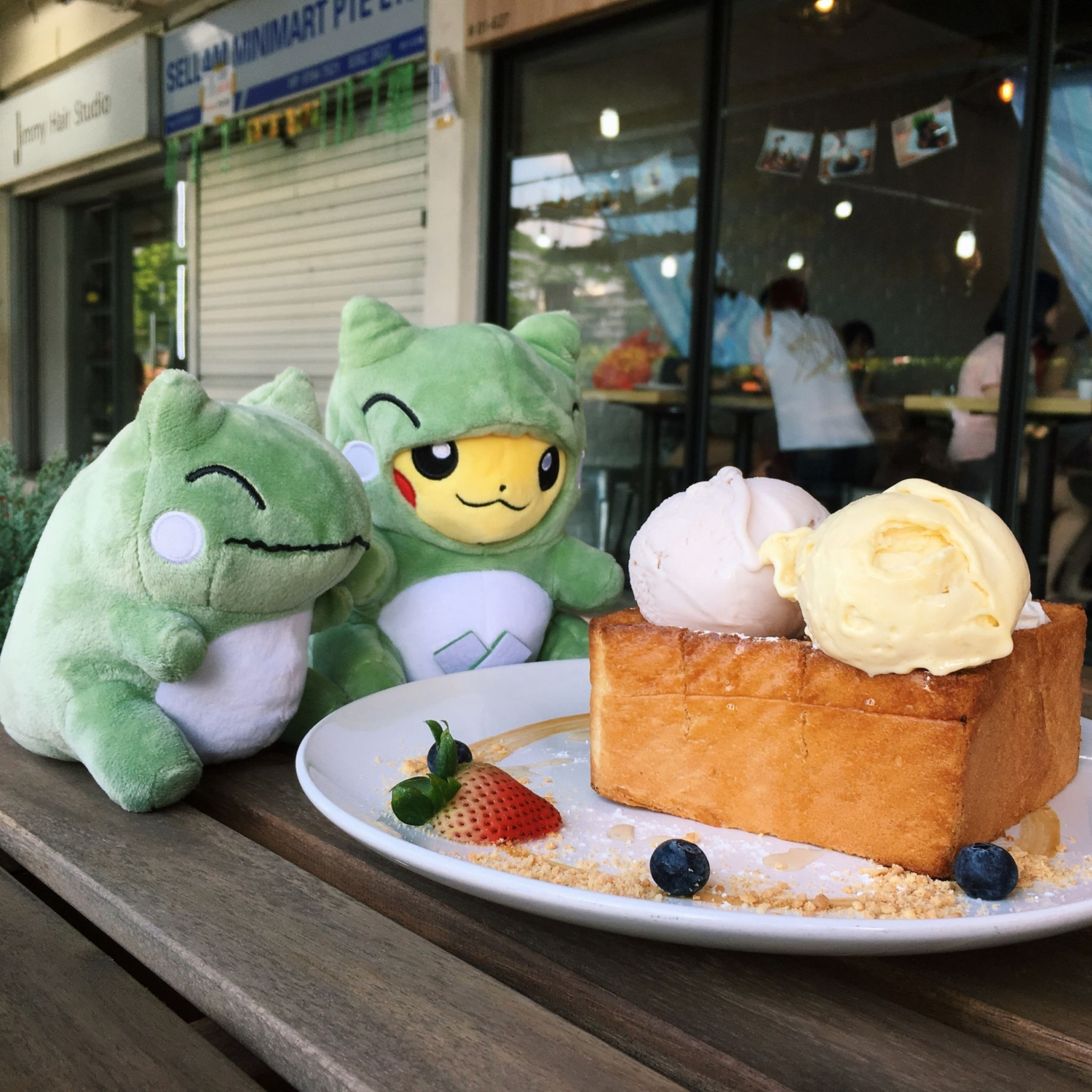 Honey Shibuya Toast with Ice Cream - Double Scoops