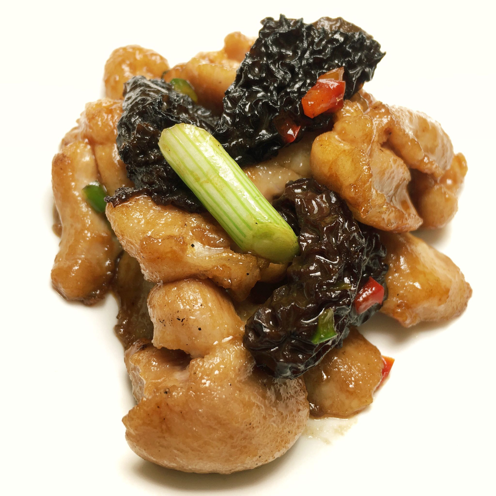 Pan-fried Chicken with Morel in Superior Soy Sauce - Yan Ting