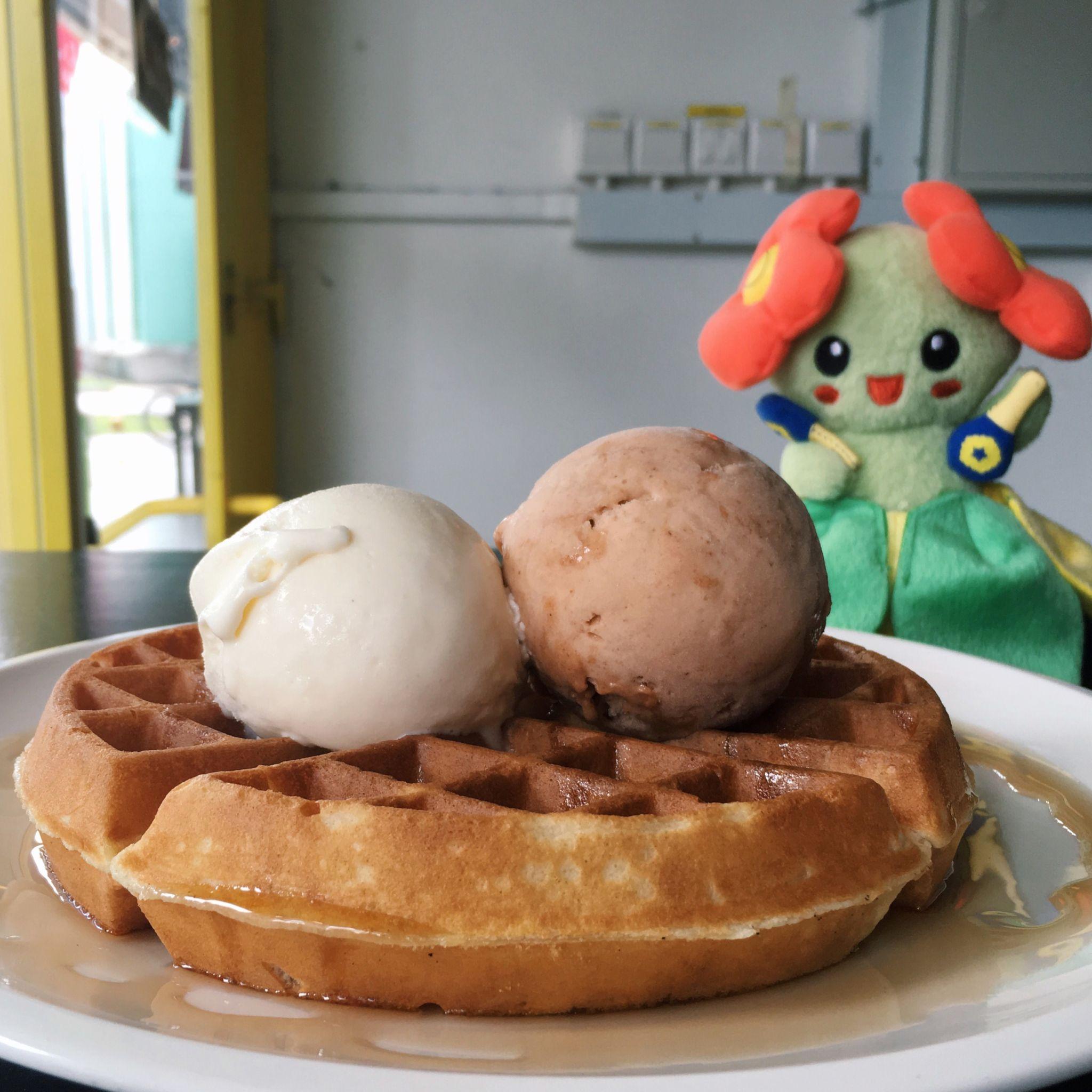 San Zar and White Rabbit on Waffle - Non Entrée Desserts