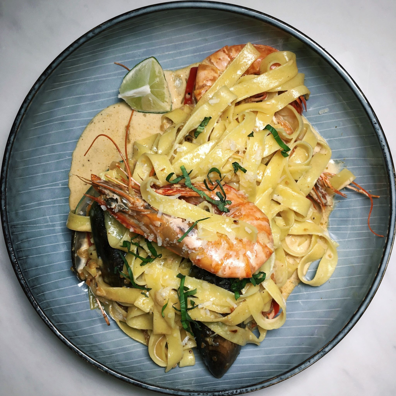 Tomyum Seafood Pasta - Fuel Plus