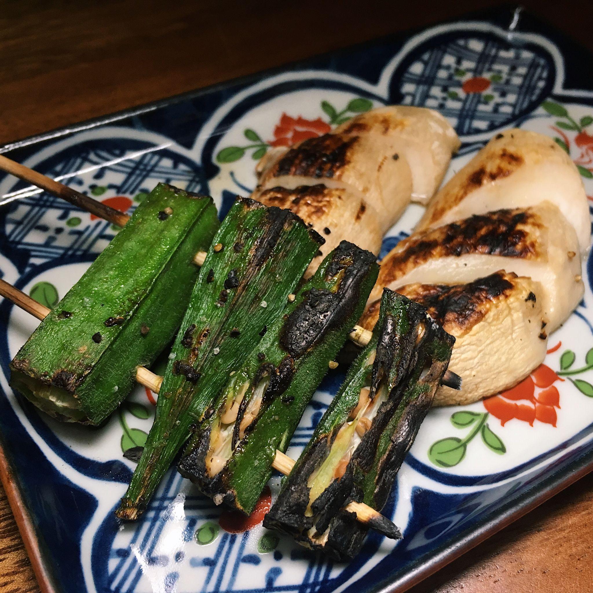 Okra and Oyster Mushroom - Kimoto Gastro Bar