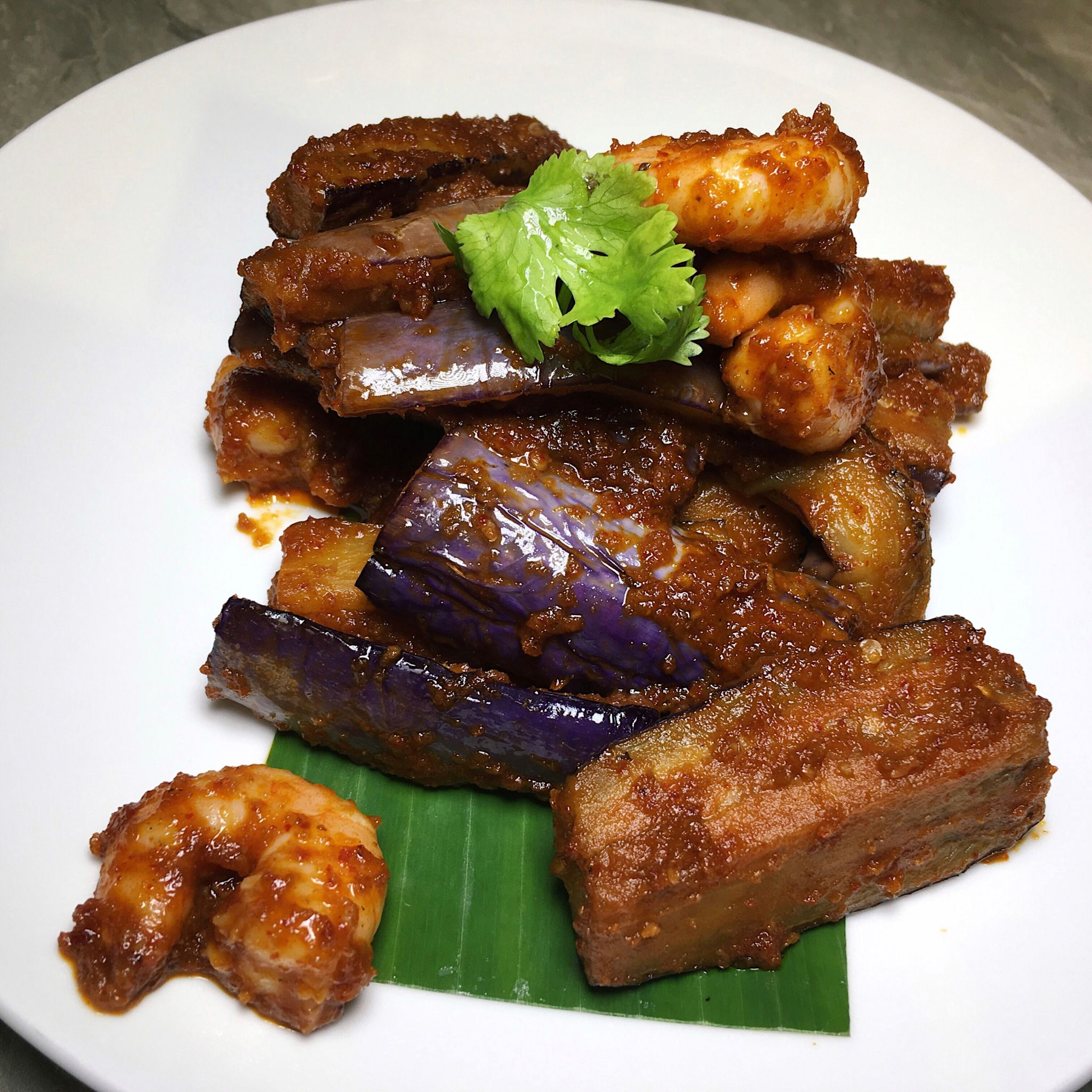 Sambal Juliana with Fried Brinjal - Folklore