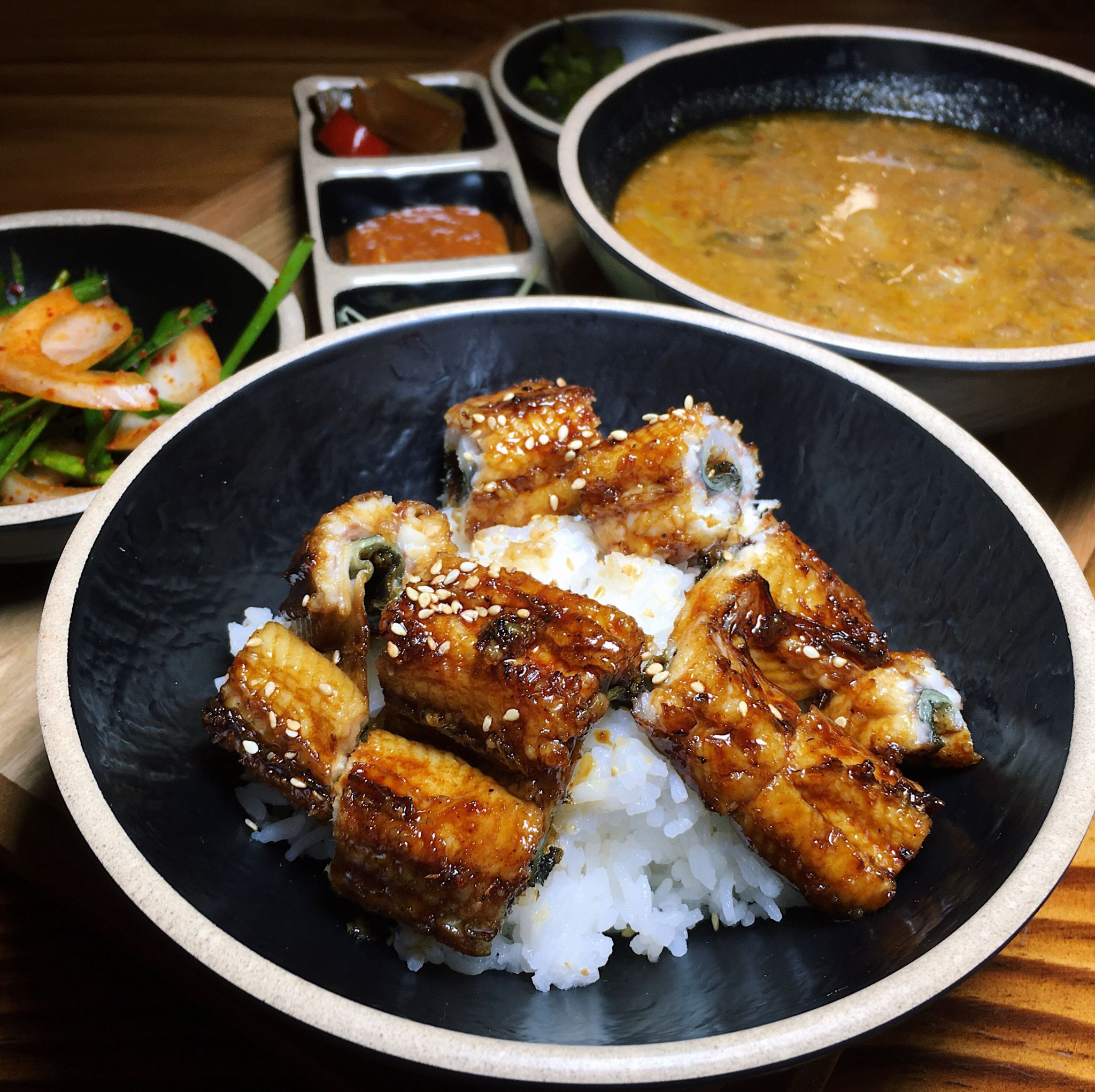 Rice with Grilled Eel + Eel Soup - Unagi Nara