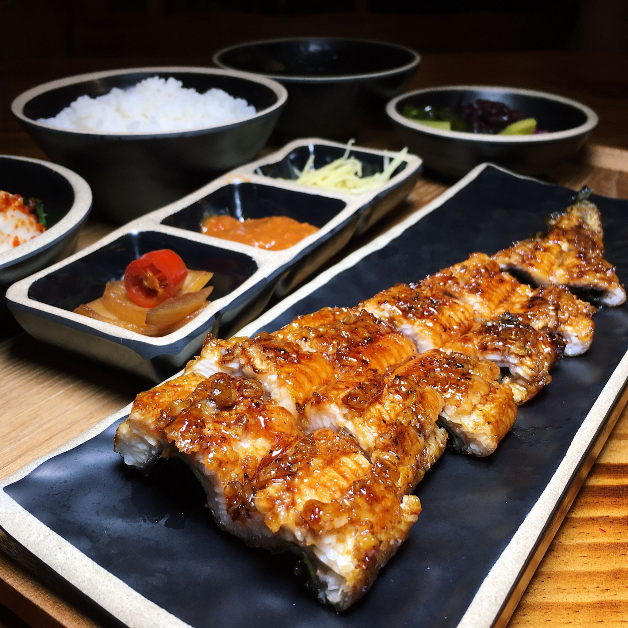 Grilled Eel Set with Chilli Sauce - Unagi Nara