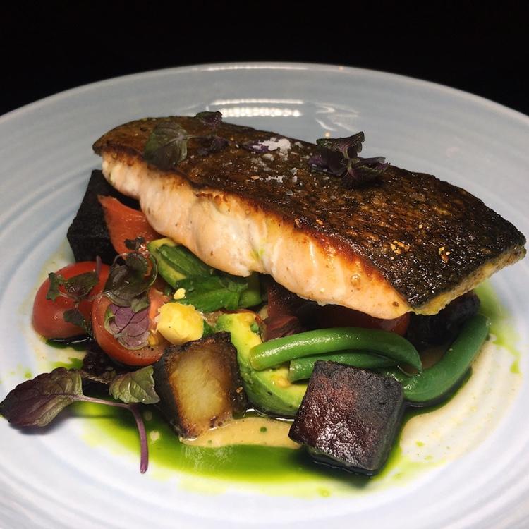 Salmon on Niçoise Salad - Origin Grill & Bar