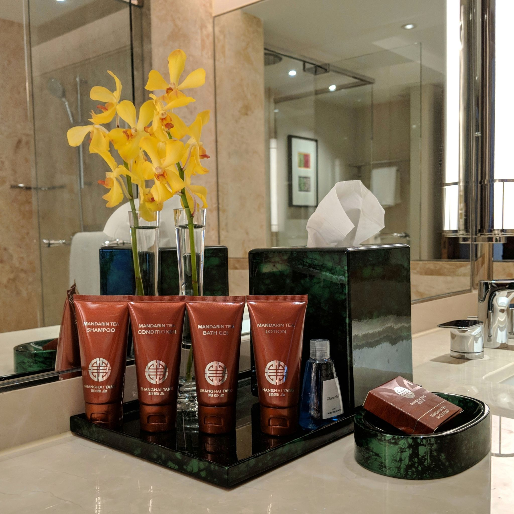 conrad centennial singapore shanghai tang bathroom amenities
