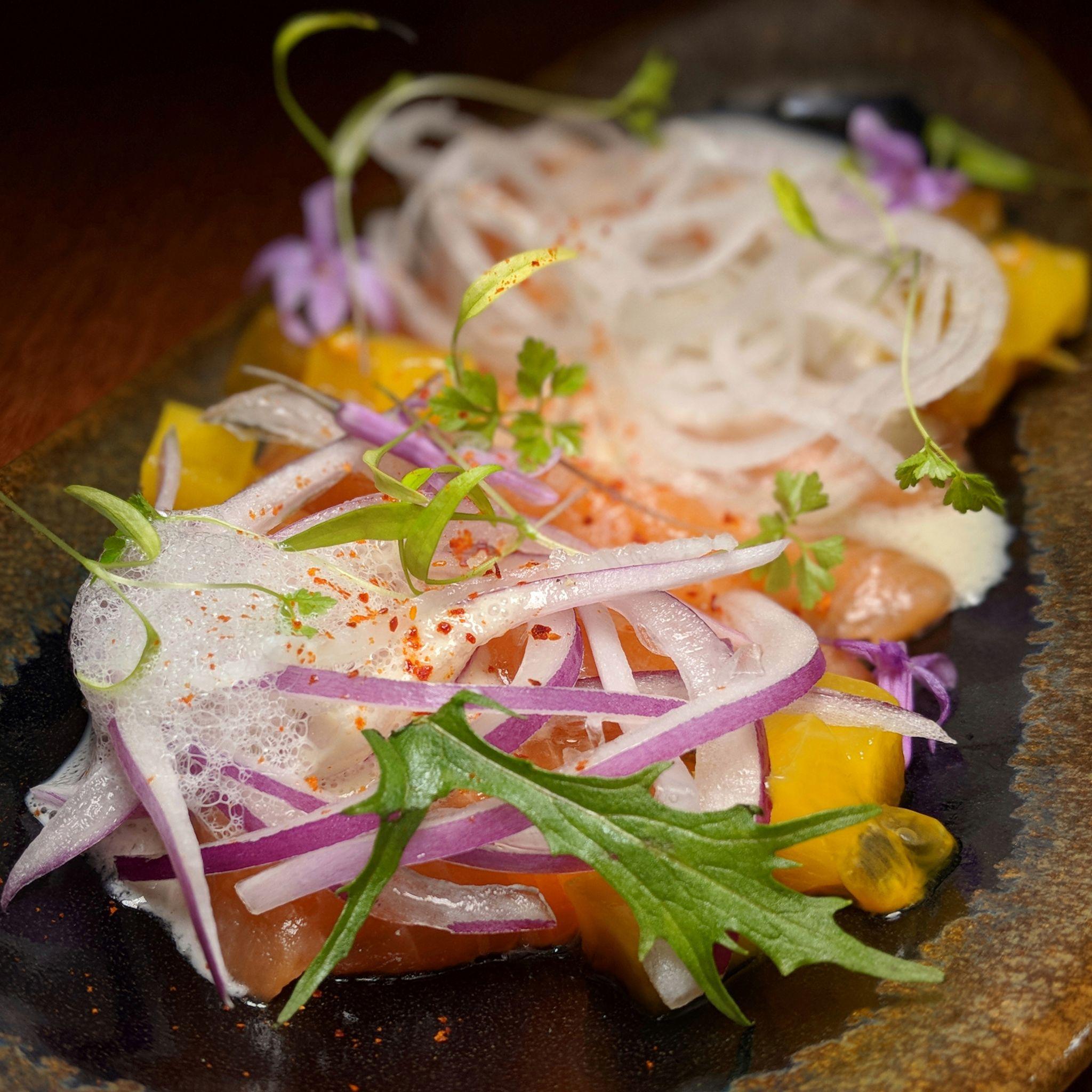 kinou restaurant salmon ceviche