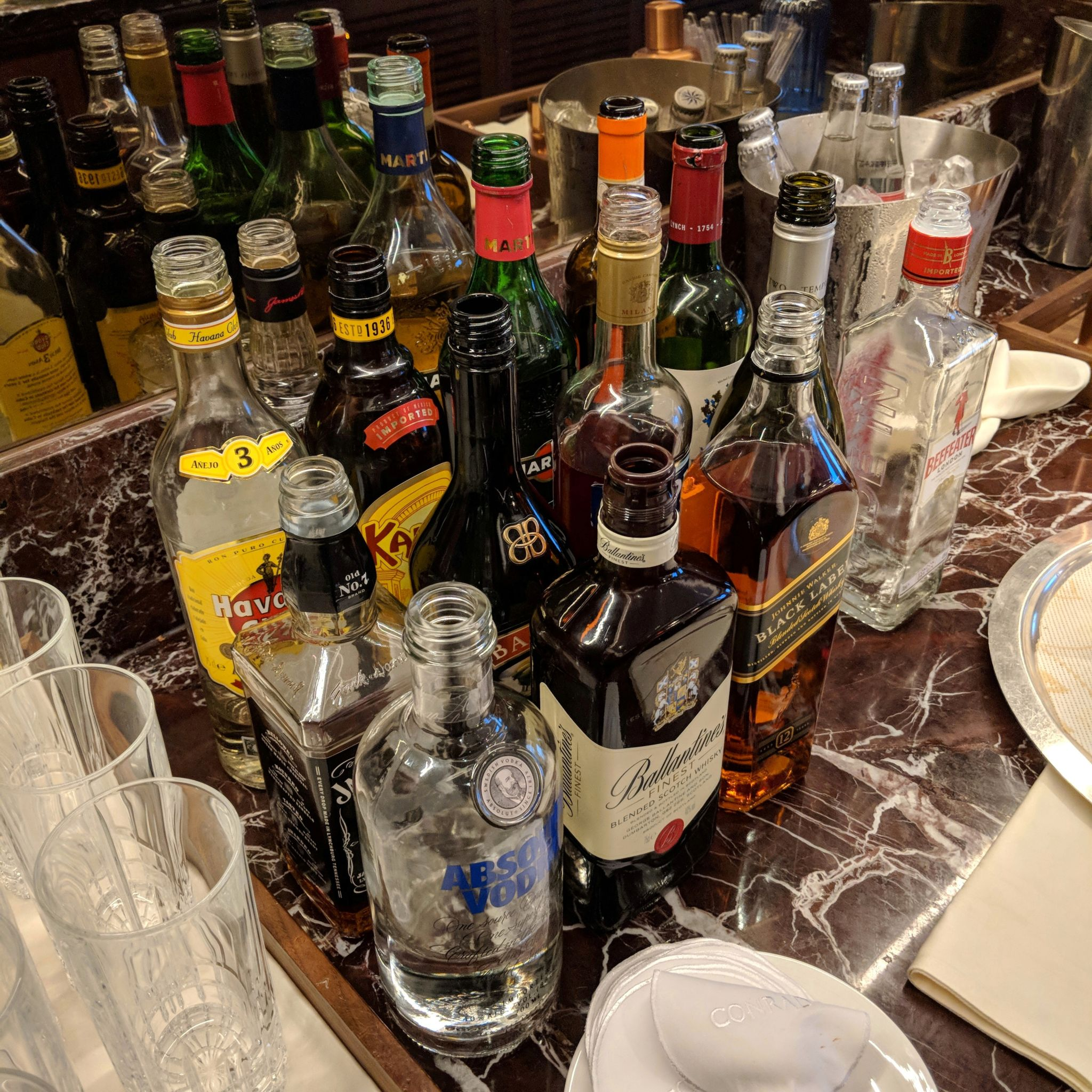 conrad centennial singapore executive lounge alcohol